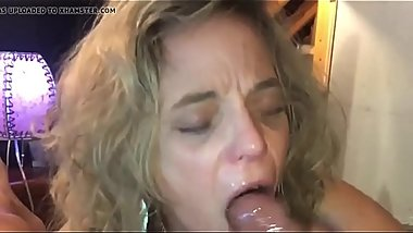 Wife eating ass and cum