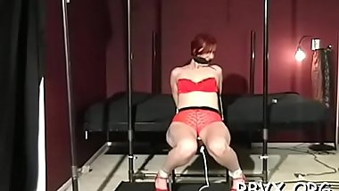 Young hottie gets restrained good whilst getting teased by toy