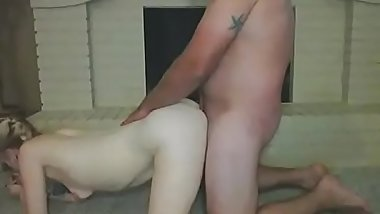 old dude fuck young dogstyle but got some truble with him bigcock