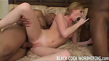 I am going to get spit roasted by big black cock in front of you