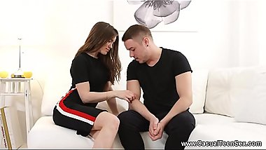 Casual Teen Sex - Impudent guy fucks eager babe Evelina Darling