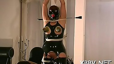 Nude mother i'_d like to fuck gets the bazookas tied up in amazing bondage sex scenes