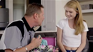 Horny girl surprises her father on fathers&#039_ day by Fuck - Full at http://bit.ly/2Mk1pTb