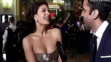 Jacqueline Fernandez Hot Boobs showing Cleavage show