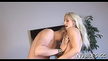 Nasty playgirl is performing unforgettable deep throat blowjob