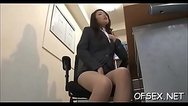 Office nympho relishes schlongs and fucks in the workplace
