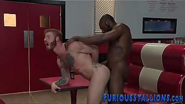 Buff dude banged with bbc