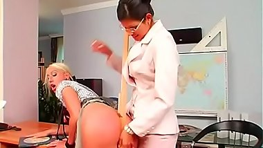 Wicked babe enjoys her fetish getting butt spanked with paddle
