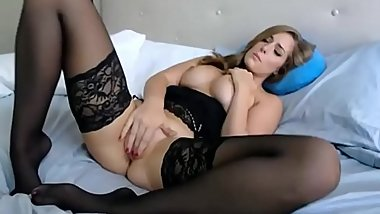 Most Beautiful Usa Woman In Black Stockings Masturbates Lustfully On Webcam . Girl from GetSex.CF