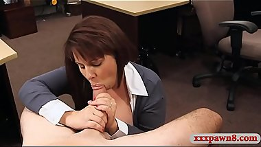 Huge boobs milf slammed by pawn keeper at the pawnshop