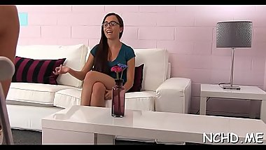 Moist teen girl enjoys unfathomable banging at the teen casting