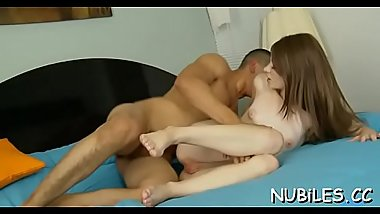 Pal stimulates love button of babe pushing one-eyed monster inside of pussy