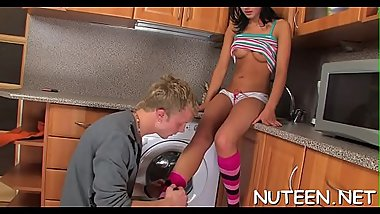 Check up lovely gangbang scene where 3 men fuck 1 gal