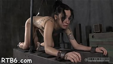 Sexy angel is tearing up from her hardcore torment