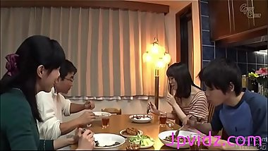 Japanese sister fucks brother after dinner