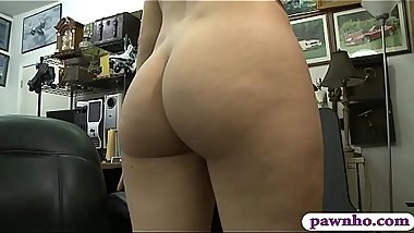 Petite blonde gets drilled by pawn dude