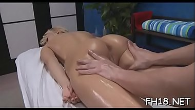 Teen chick gives up the pink to her massage therapist