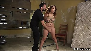 Brunette with big ass fucked in bdsm