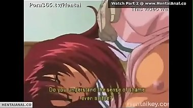Hentai Schoolgirl Gets Anal For First TIme