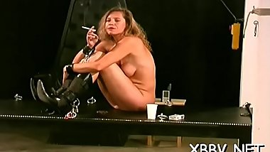 Breast thraldom leads to severe torture moments on live cam