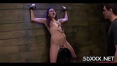 Juvenile slut gets mistreated by a big dick in her mouth