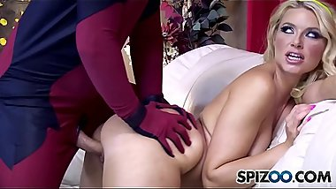 Spizoo - Petite Anikka Albrite is fucked by Deadpool, big dick &amp_ big booty