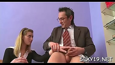 Fascinating darling is offering her snatch for teacher'_s delight