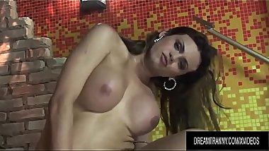 Saucy Tranny Nicole Marques Trades Blowjobs with a Guy and Then Gets Fucked