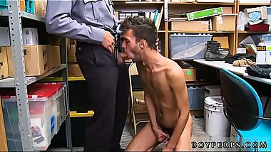 Naked police gay cock video While in custody, the officer was able to