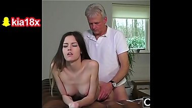 Babysitter Pussy Fucked by old Man