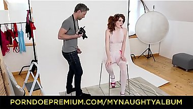 MY NAUGHTY ALBUM &ndash_ Sexy redhead Slovak model Anny Swix fucks photographer Lutro on set
