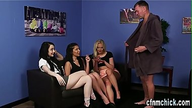 Cfnm beauties humiliate