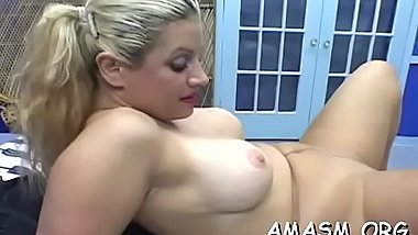 Breasty dilettante wife dominates hubby on home camera