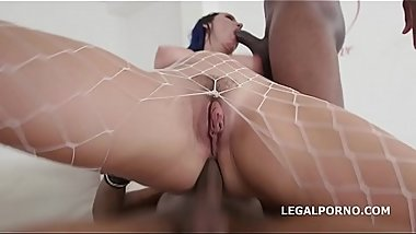 Charlotte Cross 2on1 BBC with Balls Deep Anal, DP and Creampie