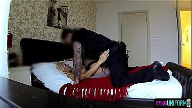 Tattooed MILF bent over by UK police officer