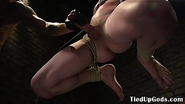 Flogged stud facialized and restrained