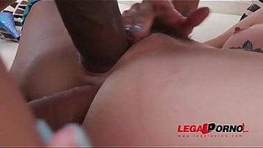 Lola Fae hardcore DP with two monster cocks SZ2091