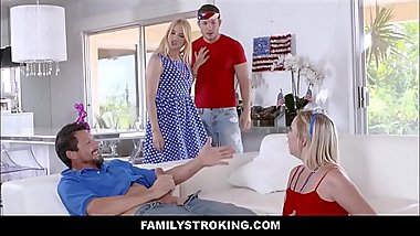 Fourth Of July Family Foursome With Step Mom And Step Dad Swap Fucking Step Son And Step Daughter