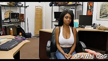 Non-professional gets shown the back room where she gets screwed