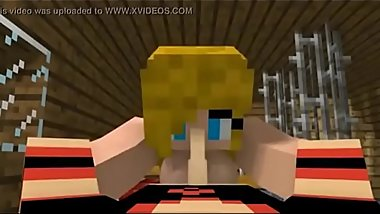 Minecraft Sex in the Bedroom.  cartoon 3d porn games