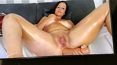 huge anal toy in my hole